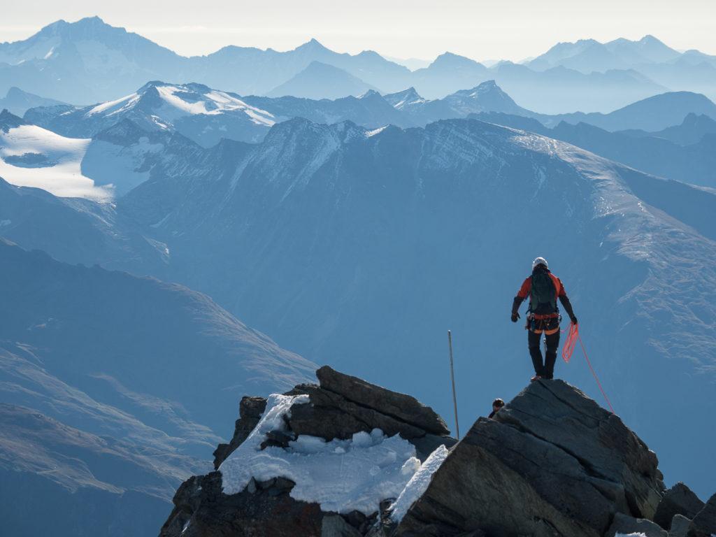 Großglockner mit Bergwelten und Gerlinde Kaltenbrunner. Foto: Simon Schöpf