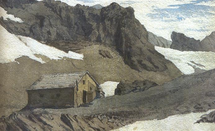 Stüdlhütte im Jahre 1874